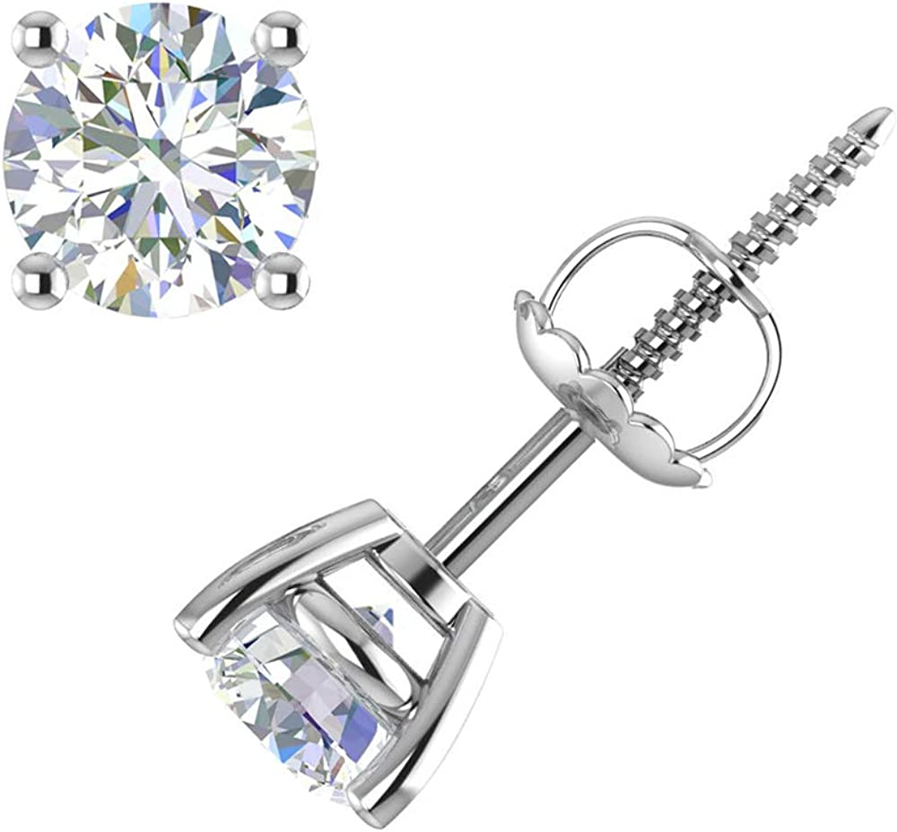 DIAFROST-0.40 Carat to Cheap mail order specialty store 2 4-Prong Lab Diamond Stu 5 popular Grown Set