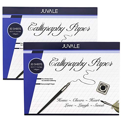 Calligraphy Paper Pad (2 Pack, 50 Sheets)