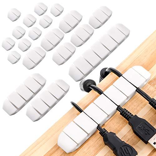 20 Piezas de Clips de Cable, Organizador de Cable, Silicona Soporte de...