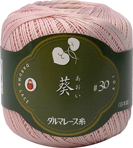 DARUMA レース糸 葵 レース糸 #30 Col.4 ピンク 系 25g 約145m 3玉セット 01-2370