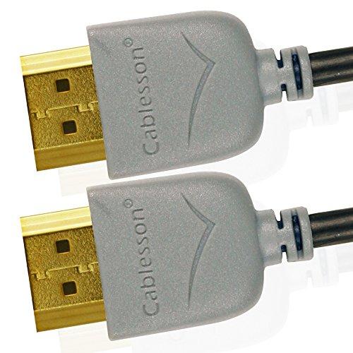 Cables HDMI Ivuna Slim Flex 1m de alta Velocidad (HDMI Tipo A, HDMI 2.1/2.0b / 2.0a / 2.0/1.4) - 4K, 3D, UHD, ARC, Full HD, Ultra HD, 2160p, HDR - Ultra Diseño Delgado - Gris