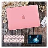 GYY para MacBook Air 11 12 13.3'Cubierta Clara De Cristal para MacBook Air Pro 13 15 16 Touch Barra/Touch ID A2289 A2338 M1 A2159 (Color : Matte Pink, Size : Model A1502 A1425)