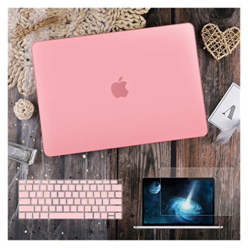 LYB For Macbook Air 11 12 13.3' Crystal Clear Cover for Macbook Air Pro 13 15 16 Touch Bar/Touch ID A2289 A2338 M1 A2159 (Color : Matte pink, Size : Old air13 A1466 2017)