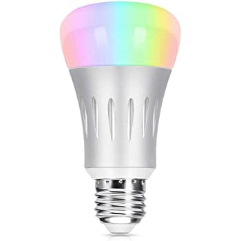 Wi-Fi Smart LED Light Bulb, Tastech [Upgraded Version] Dimmable Multicolored Party Lights Bulb, No Hub Required, Compatible with Alexa and Google Home (Silver)