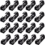 (20pcs) Finisher Wire Clamp Cord Management Cable Clips with Strong Adhesive Tapes Cable Clips Wall Wire Clips Holder for Car,Office black