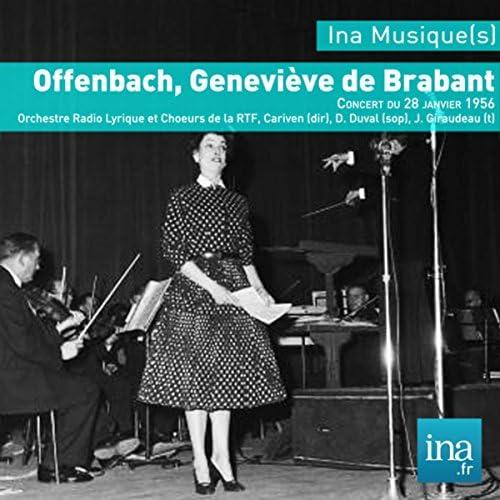 Marcel Cariven, J. Giraudeau & Orchestre Radio Lyrique et Choeurs de la RTF feat. D. Duval (soprano)