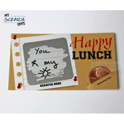 78777ba9b6e9 Amazon.com: Happy Lunch Lunchbox Notes Make Your Own Scratch Off ...