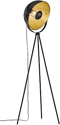 WOFI Lampadaire 3019.01.10.7000 A++ à E, métal, 40 watts, E27, noir, 60 x 60 x 160 cm