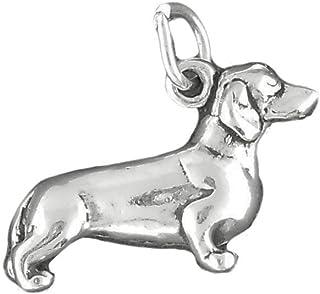 Corinna-Maria 925 Sterling Silver Dachshund Dog Charm