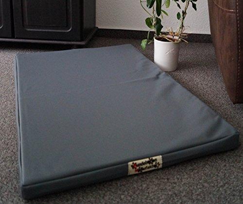 Hundematratze Hundebett Matratze Schlafplatz Kunstleder Top Ware 120 cm X 80 cm grau