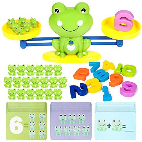 iNeego Balance Mathe-Spiel Spielzeugwaage Game Waage Spielzeug Spielzeug zählen für Kinder ab 3+ Jahhre