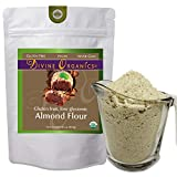 16 oz Organic Almond Flour Powdered Gluten Free Low Glycemic Non-GMO by Divine Organics