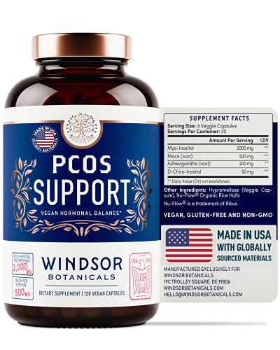 PCOS Support Supplement for Women - Symptom Relief, Mood, Fertility,...