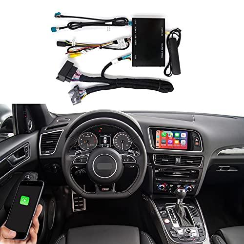 Road Top Wireless Carplay Android Auto Retrofit Kit para Audi A4 A5 S4 S5 RS4 RS5 Q5 2010-2016 con actualización de pantalla de fábrica 3G MMI, soporte Mirror Link, Siri, control original, cámara
