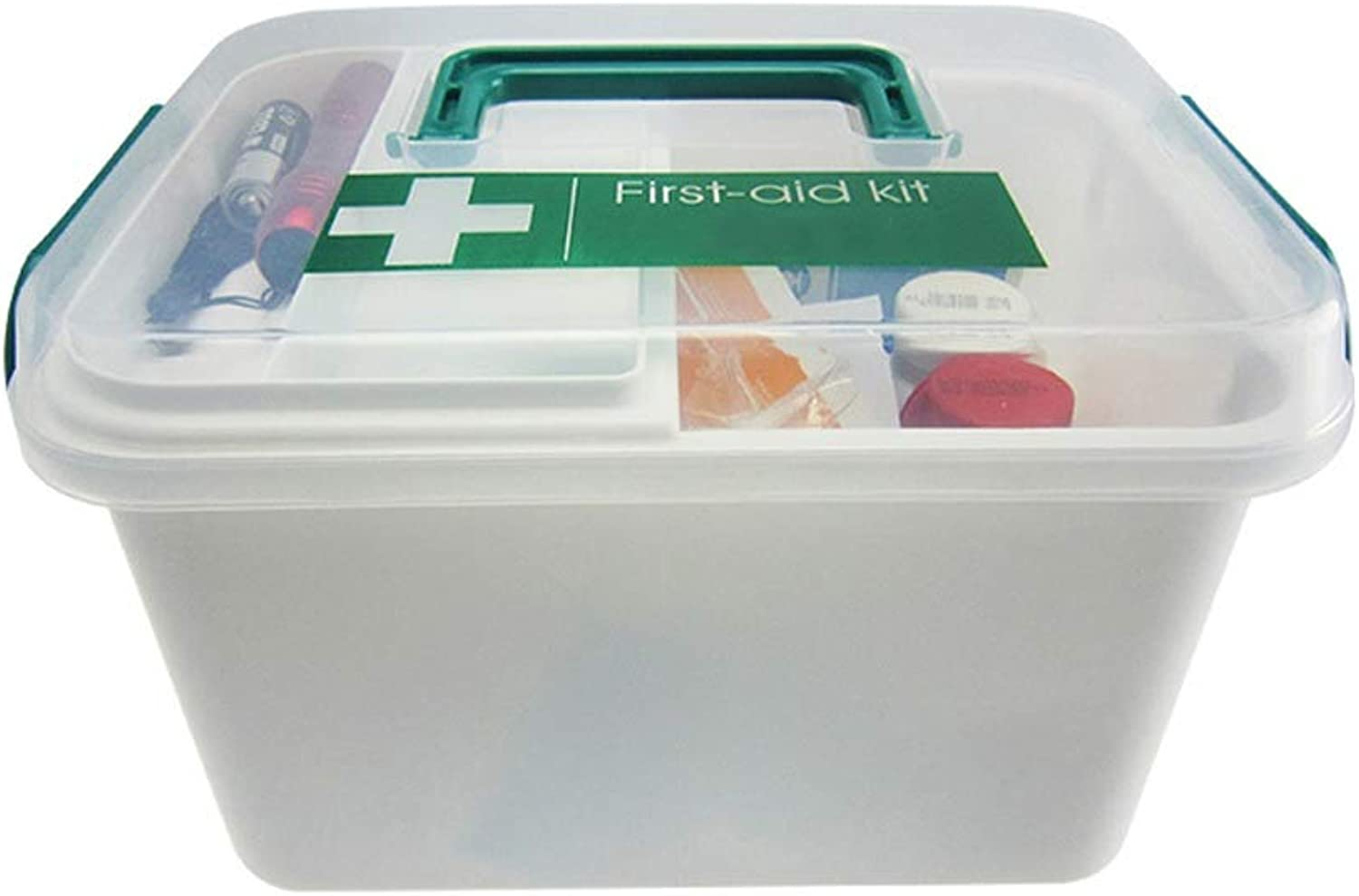 LCSHAN Portable Home Safety Medicine Box Family Spare First Aid Box Storage