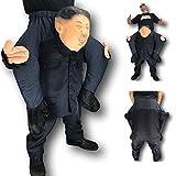 Rubber Johnnies Kim Jong 'Rocketman' Ride On Carry Disfraz, Piggy Me , Talla única, Adulto