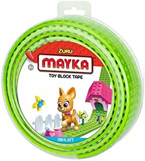 MAYKA Toy Block Tape, 4 stud, 6.5ft, Light Green,non-marking