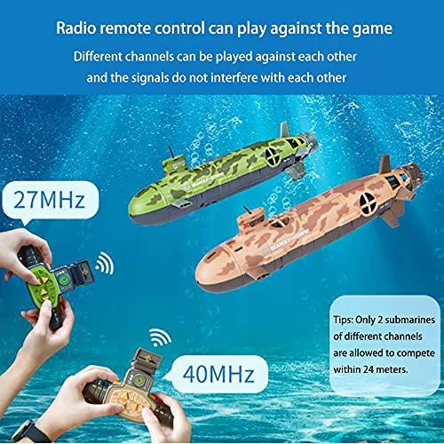 Lllunimon RC Boot Fernbedienung Seawolf U-Boot-Tauchspielzeug-Simulation Modell Geschenk Für Erwachsene Und Kinder,Green 27mhz
