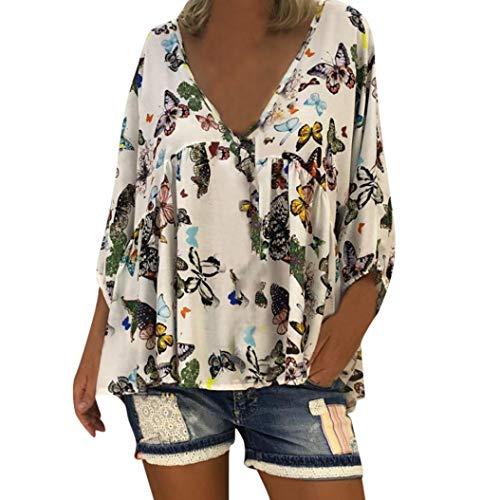 Vrouwen dames lange mouwen T-shirt blouse tops capuchon sweatshirt hoodie pullover jurk herfst winter vrouw dames casual V-hals vlinder print lange huid los op