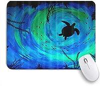 KAPANOUマウスパッド タートルナイトライトアートデザイン ゲーミング オフィス最適 おしゃれ 防水 耐久性が良い 滑り止めゴム底 ゲーミングなど適用 マウス 用ノートブックコンピュータマウスマット