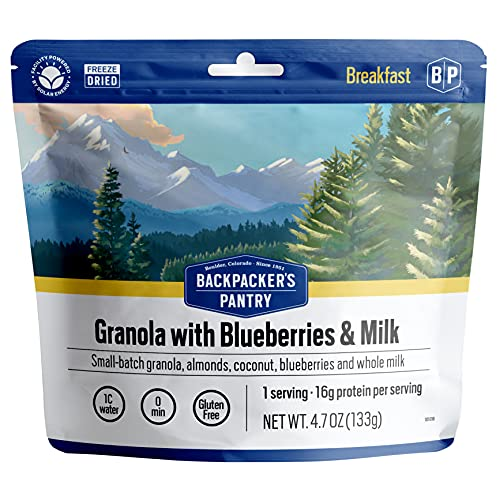 Backpacker's Pantry Granola with Blueberries Almonds & Milk