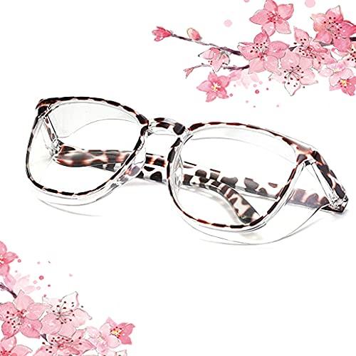 Clear Safety Glasses for Women Anti Fog Anti Scratch Uvnex Protective Eyewear Stylish Fashion Blue Light Filter Goggles