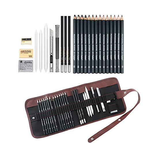 Sketching Pencil Set, 24 Pcs Graphite Drawing Pencil for Artists