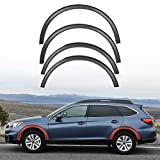 ECOTRIC 4 Piece Wheel Arch Fender Moldings Compatible with 2015-2019 Subaru Outback Replacement for E201SAL000