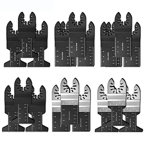 10-31PCS Hoja de sierra de herramientas múltiples oscilantes for Fein Bosch Multimaster Makita Bosch Corte Herramientas de madera for Hojas de Potencia Renovador by ROYAL STAR TY (Color : B 25pcs)