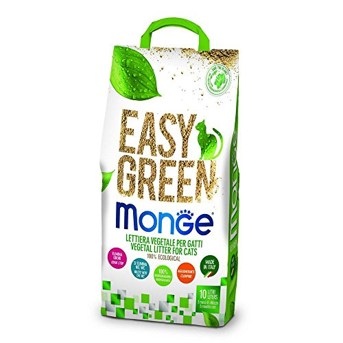 Monge lettiera Easy Green Gatto Gatti furetti rettili Cat 10 Litri biodegradabile WC