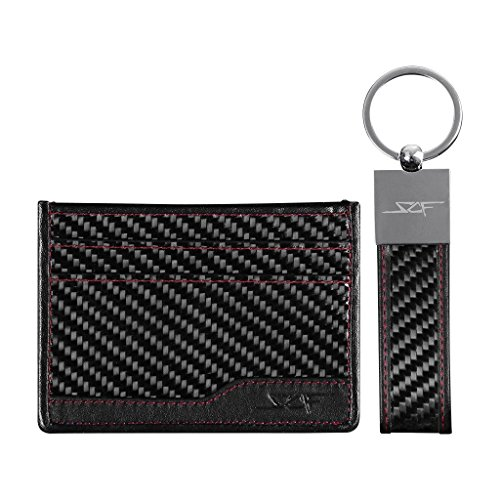carbo-NEEK Card Holder & Keychain (Red Stitching)