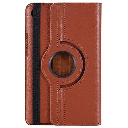Funda giratoria de Cuero de la PU con Soporte Giratorio de 360 Grados para Samsung Galaxy Note 8.0 GT-N5100 GT-N5110 Funda de Tableta de 8.0 Pulgadas-marrón