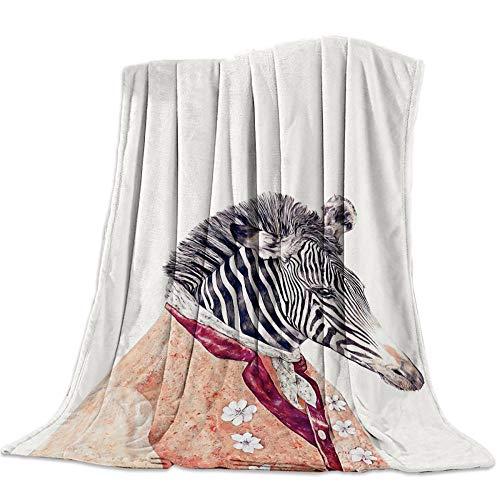 LIUDALA Cartoon Mr. Zebra-3D Flannel blanket double single blankets bed blanket baby blanket blankets for kids blankets for blankets camping blankets blankets for sofas Fluffy Bed Throws 150x200cm