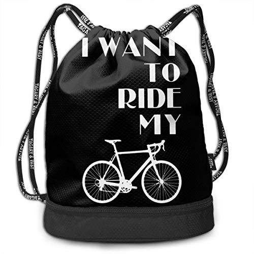 Petrichor Yi Ik wil mijn fietsbundelrugzak rijden grappige reisrugzak