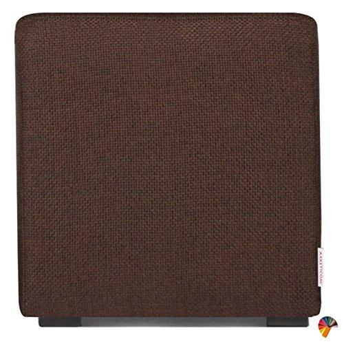 Arketicom Pouf Cube Brun en Polyurethane Haute Densite` Dimensions 55 x 55 x 45h cm (puf Puff pouff pouffe)