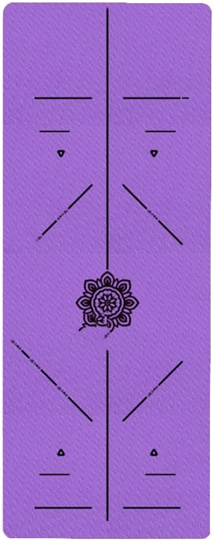ZEQUAN 8mm Dicke lila Sport Fitness Yoga Matte Gesundheit Massage Matte