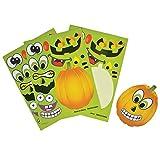 Rhode Island Novelty 097138760951, Make a Pumpkin Jack-O-Lantern Halloween Sticker Sheets, Multicolor, One Size