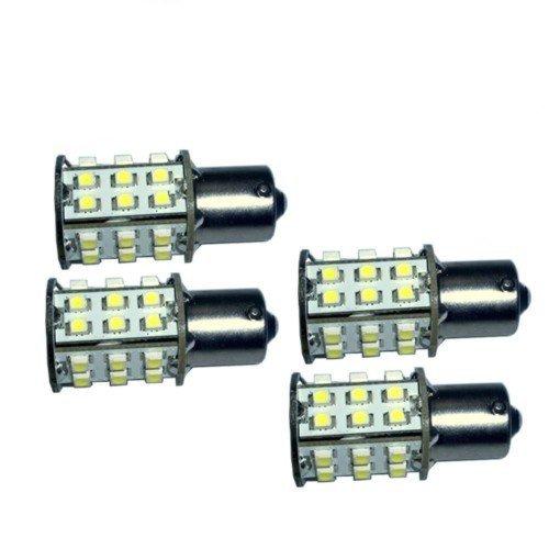 HQRP 4 Pack BA15S bayoneta Base 30 LED SMD LED Bombilla Blanco Frío para #93 1141 1156 1073 1093 1129 Reemplazo más HQRP posavasos