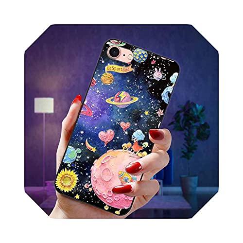 Carcasa de silicona para iPhone 7 8 Plus y iPhone 7, 8 Plus, diseño de flores en relieve, 3D, para iPhone 6S, 6, 6, S, 8 Plus, 7 Plus, 6 Plus, iPhone 8, iPhone 6, iPhone 7