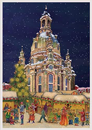 Richard Sellmer Verlag Adventskalender Frauenkirche Dresden - Papier-Adventskalender ca. A3