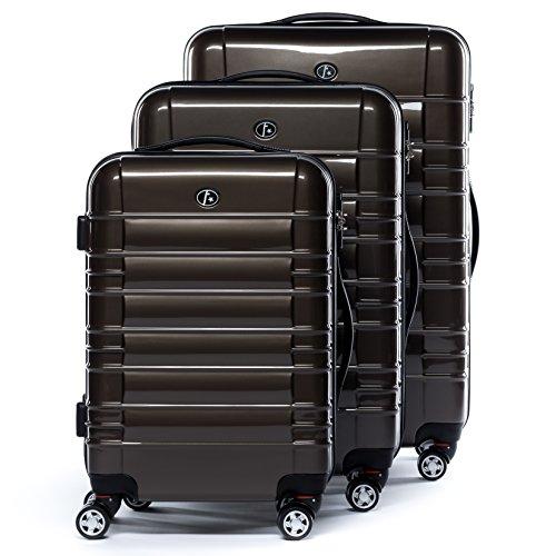 FERGÉ set di 3 valigie viaggio NIZZA - bagaglio rigido dure leggera 3 pezzi valigetta 4 ruote girevole