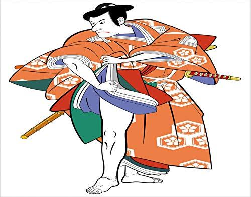 YJIANG Pintura por nmeros actor en disfraz mscara Kabuki multicolor DIY lienzo acrlico pintura al leo por nmeros para adultos nios decoracin de la pared del hogar, 50,8 x 50,8 cm