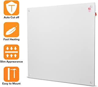 TRUSTECH Panel Heater - Space Heater with Overheating Automatically Cut off Protect, Slime Wall Mount Design, 450W Power Ideal for 250 Sq Ft Room Crack Resistant, Save up to 50% Heating Bill, White