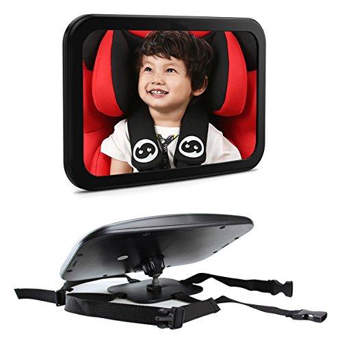 Bébé Siège arrière miroir pour dos à la route Infant, Plus sûre vue arrière, incassable et réglable