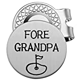 Golf Ball Marker with Magnetic Hat Clip Gift for Grandpa - Fore Grandpa - Golf Accessories for Men - A Perfect Mens Gift for Golf Lovers