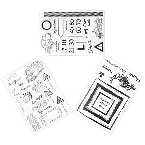 Velaurs Sello Transparente de Bricolaje, decoración de álbum ecológica, Bonito Efecto de Estampado para niñas para niños