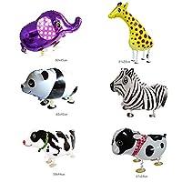 Takelablaze ウォーキング 動物アルミバルーン 動物風船 6種類セット  誕生日 パーティー装飾や子供のプレゼントに最高