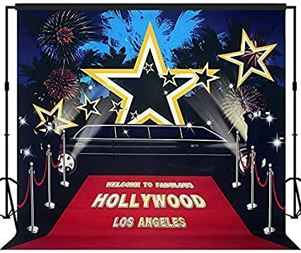 Musykrafties Christmas Occasions Star Sparkles Setting with Wooden Floors Photography Backdrop Background Party Wall Photo Booth Props Gold 10x10ft