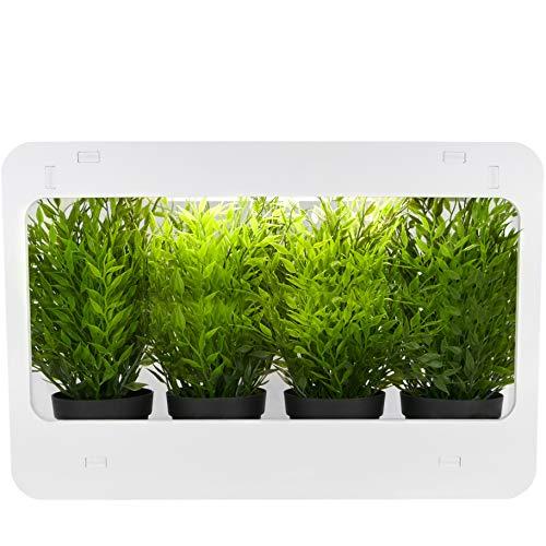 PrimeMatik JR011-VCES - Kit per crescita di piante, per uso interno, con luce a LED bianca, 850 lm, 14 W (JR011)