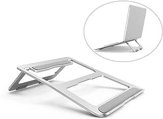 Simsmart Aluminum Metal Laptop Stand for Desk Foldable Tablet Laptop Mount Holder (Silver)
